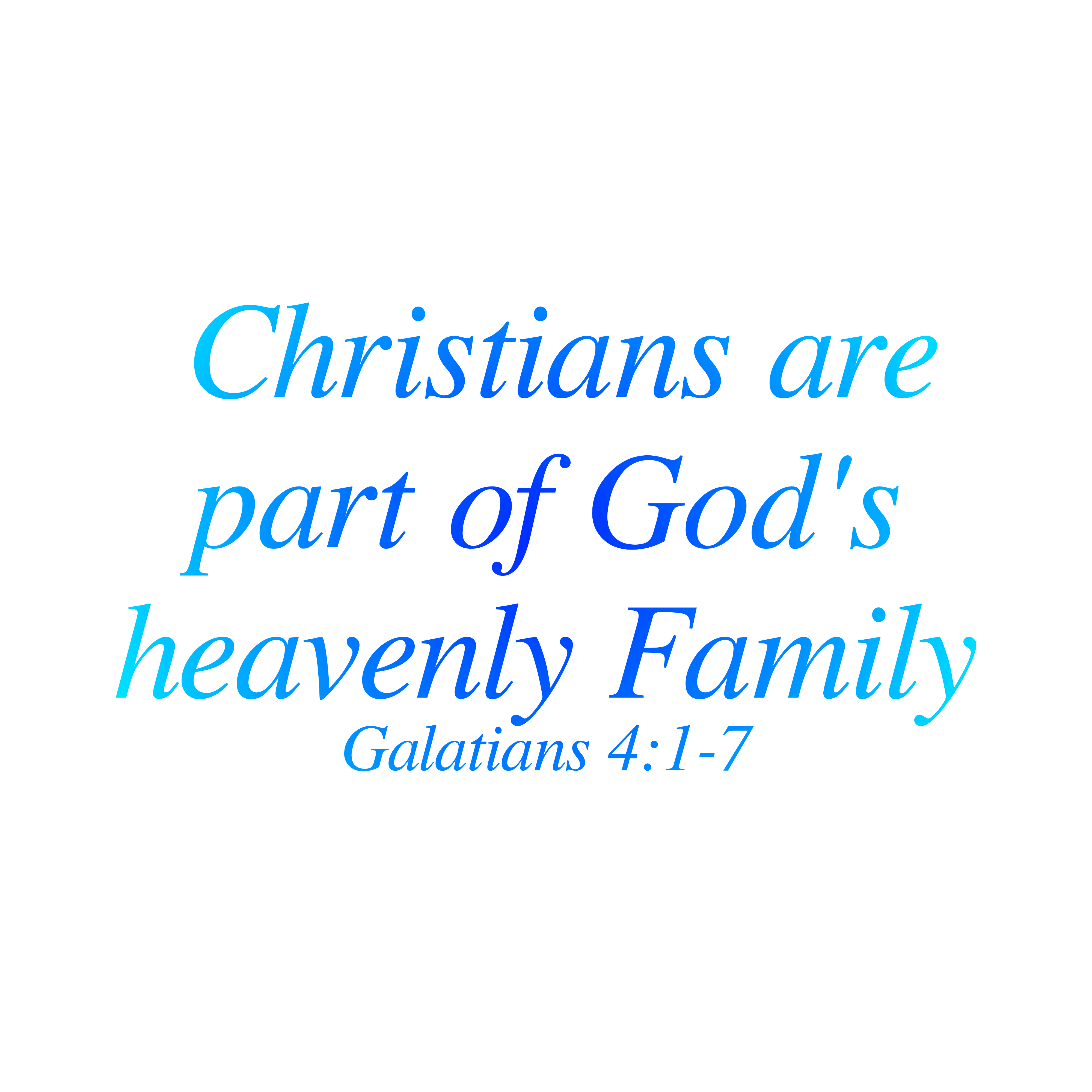 Our Heavenly Family